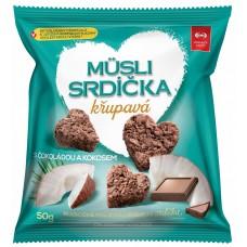 мини снеки овсяные с кокосом и темным шоколадом Семикс
