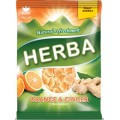 карамель жевательная со вкусом апельсина и имбиря Herba 90 граммов